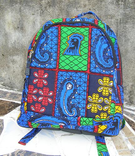 African Print Back Park Bag