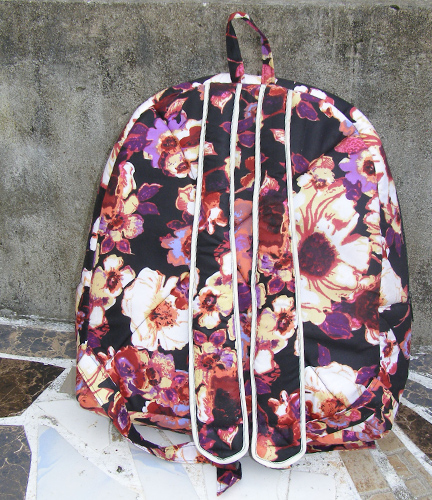 African Print Park Bag Flower